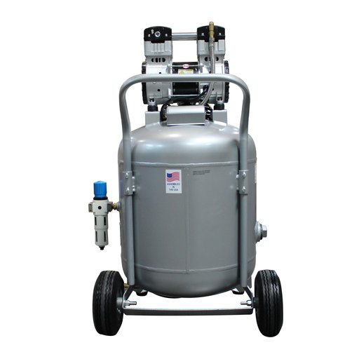 View a Larger Image of Steel Tank Air Compressor, 30020C-22060, Ultra Quiet  & Oil-Free  2.0 Hp, 30 gallon,  220v 60 hz