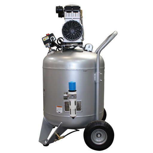 View a Larger Image of Steel Tank Air Compressor, 30020C, Ultra Quiet  & Oil-Free,  2.0 Hp, 30 gallon