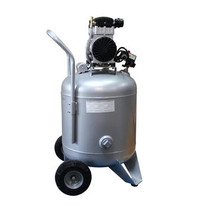 Steel Tank Air Compressor, with Automatic Drain Valve, 30020CAD-22060, Ultra Quiet  & Oil-Free, 2.0 Hp, 30 gallon, 220v