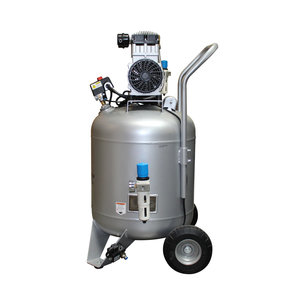 Steel Tank Air Compressor, with Automatic Drain Valve, 30020CAD Ultra Quiet  & Oil-Free, 2.0 Hp, 30 gallon