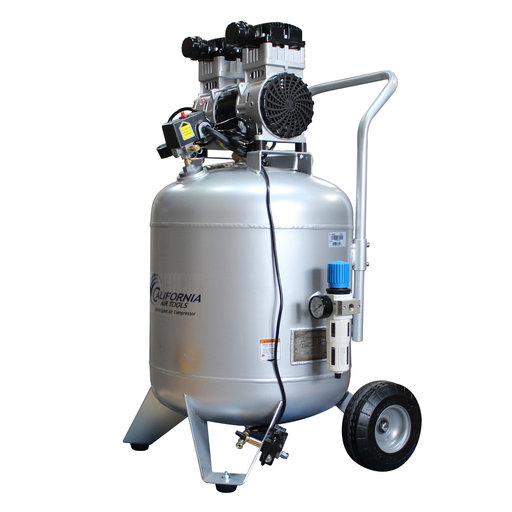 View a Larger Image of Steel Tank Air Compressor, with Automatic Drain Valve, 30020CAD Ultra Quiet  & Oil-Free, 2.0 Hp, 30 gallon