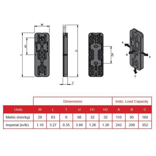 View a Larger Image of Striplox Pro 23 Hidden Mounting System 4-pair