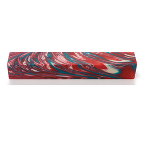 Summer Swirl Poly Resin Pen Blank