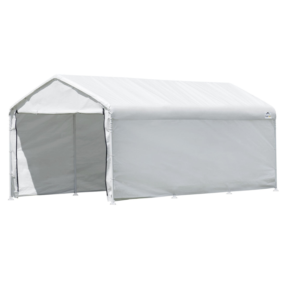 Shelterlogic Super Max 2 In 1 10 Ft X 20 Ft 4 Rib Canopy With Enclosure Kit