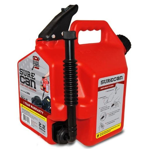 View a Larger Image of SureCan 2.2 Gallon Gas Can