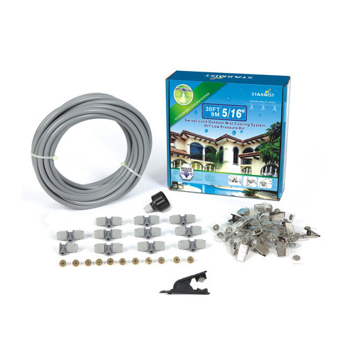 "View a Larger Image of Swivel Lock Mist Cooling Kit, 30 ft., 5/16"", #516509"