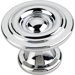 "Syracuse Knob, 1-3/16"" O.L., Polished Chrome"