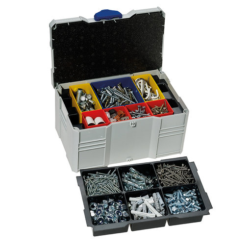 View a Larger Image of Systainer MINI T-LOC III with Box Insert Set, 6 divisions, Light Gray