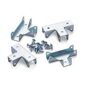 "T-Style Cubby Cube Connector 3/4"" 4pc - Zinc"