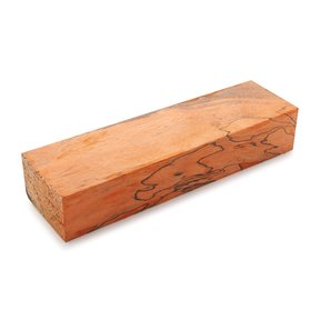 "Tamarind Spalted 1"" x 1-1/2"" x 5"" Wood Knife Scale Blank Stabized & Dyed Orange"