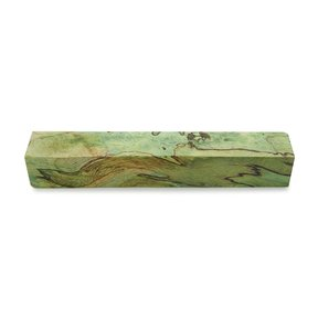 "Tamarind Spalted 3/4"" x 3/4"" x 5"" Wood Pen Blank Stabilized & Dyed Lime Green"