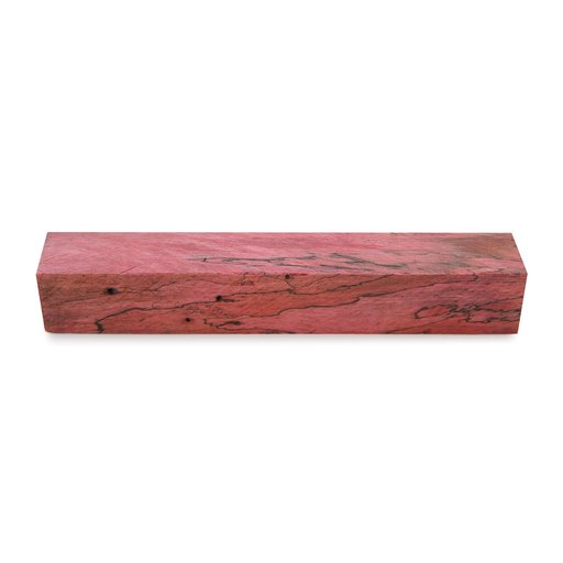 """View a Larger Image of Tamarind Spalted 3/4"""" x 3/4"""" x 5"""" Wood Pen Blank Stabilized & Dyed Red"""