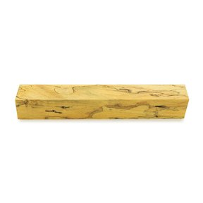 "Tamarind Spalted 3/4"" x 3/4"" x 5"" Wood Pen Blank Stabilized & Dyed Yellow"