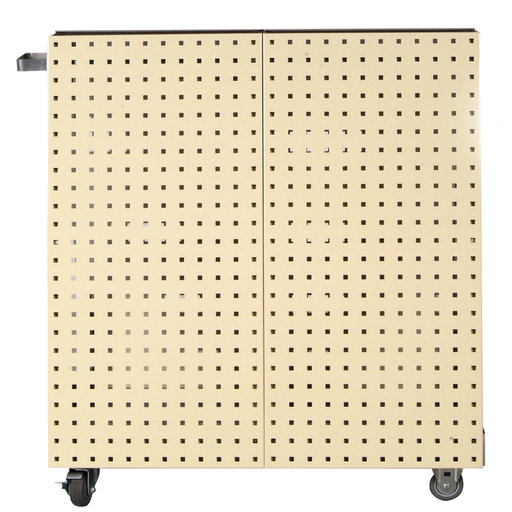 View a Larger Image of Tan Anodized Aluminum Frame Tool Cart with Tray