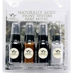 Naturally Aged Faux Finish Paint Kit, Tarnished Silver