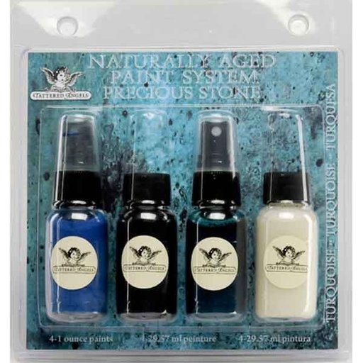View a Larger Image of Naturally Aged Faux Finish Paint Kit, Turquoise