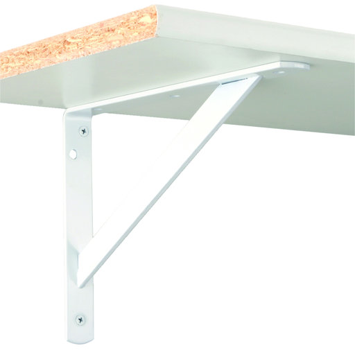 "View a Larger Image of The MAX Bracket Heavy-Duty Shelf Brackets, 15"", White Finish"