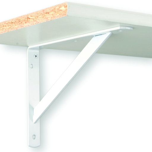 """View a Larger Image of The MAX Bracket Heavy-Duty Shelf Brackets, 20"""", White Finish"""