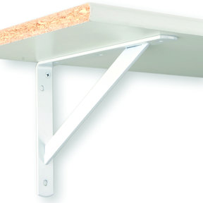 "The MAX Bracket Heavy-Duty Shelf Brackets, 20"", White Finish"