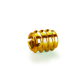 "Threaded Insert Brass 1/4"" x 20 tpi 8 pc"