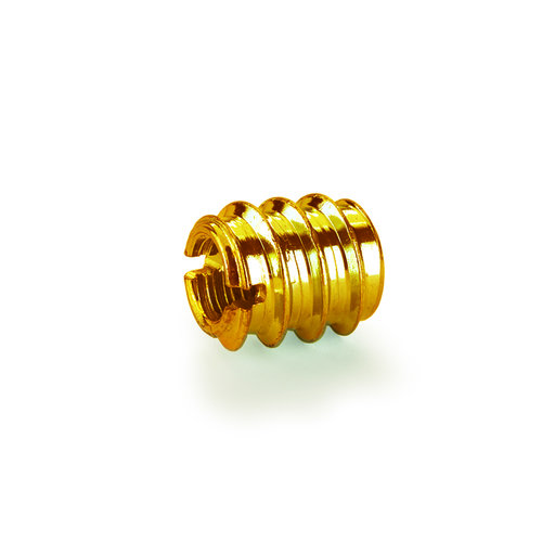 "View a Larger Image of Threaded Insert - Brass - 3/8"" x 16 8-piece"