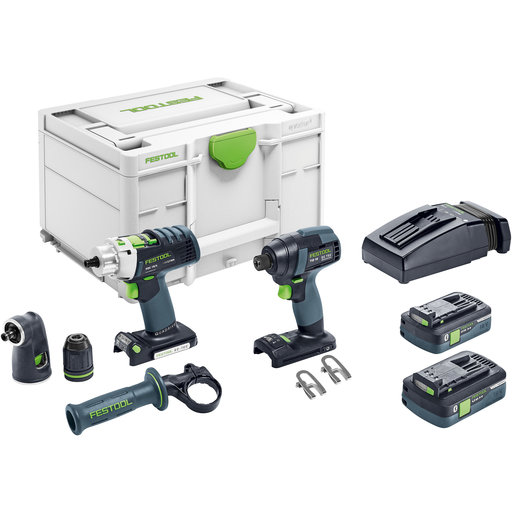 View a Larger Image of TID 18 Cordless Impact Driver and PDC 18 Cordless Drill Set