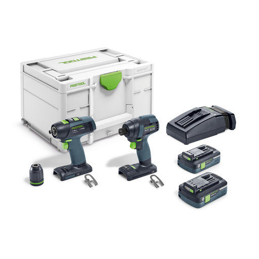 View a Larger Image of TID 18 Cordless Impact Driver and T18+3 Cordless Drill Set