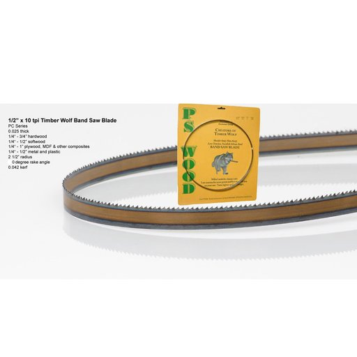 "View a Larger Image of Bandsaw Blade 105"" x 1/2"" x 10 TPI Raker"