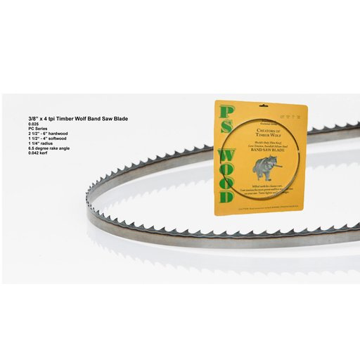 """View a Larger Image of Bandsaw Blade 111"""" x 3/8"""" x 4 TPI Positive Claw"""