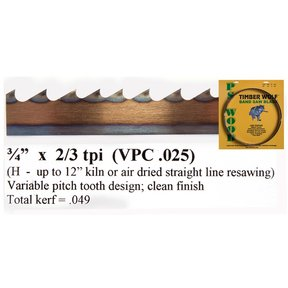 "Bandsaw Blade 115"" x 3/4"" x 2/3 TPI Variable Positive Claw"