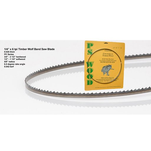 """View a Larger Image of Bandsaw Blade 142"""" x 1/4"""" x 6 TPI Positive Claw"""