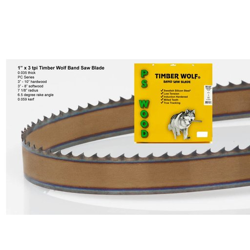 "View a Larger Image of Bandsaw Blade 153"" x 1"" x 3 TPI Positive Claw"