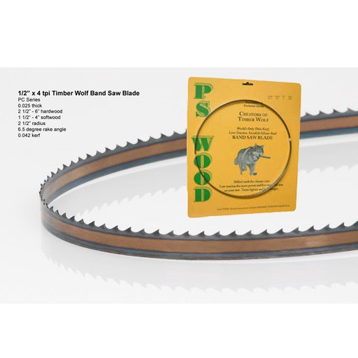 """View a Larger Image of Bandsaw Blade 80"""" x 1/2"""" x 4 TPI Positive Claw"""