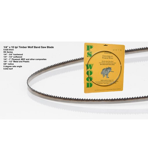 "View a Larger Image of Bandsaw Blade 80"" x 1/4"" x 10 TPI Raker"