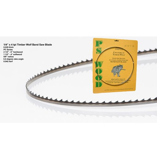 "View a Larger Image of Bandsaw Blade 80"" x 1/4"" x 4 TPI Positive Claw"