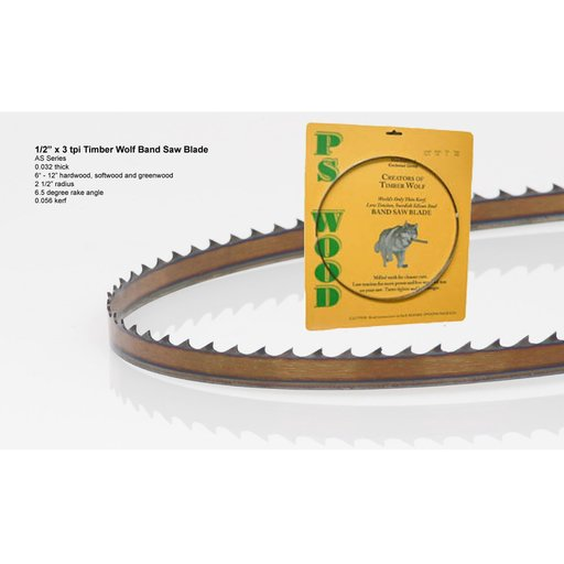 "View a Larger Image of Bandsaw Blade 93-1/2"" x 1/2"" x 3 TPI Alternate Set"