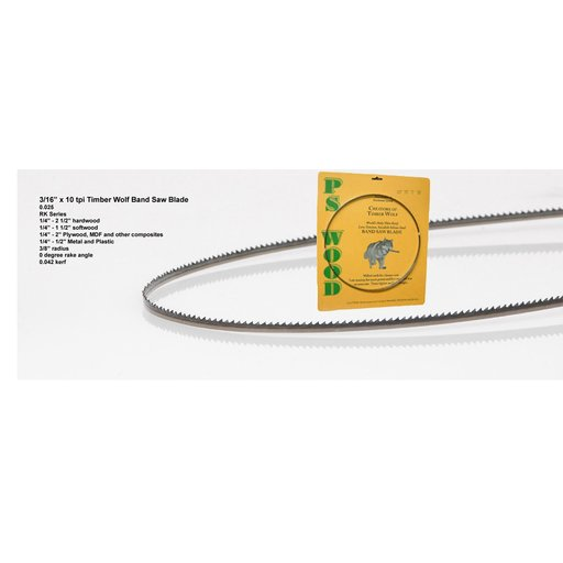 """View a Larger Image of Bandsaw Blade 93-1/2"""" x 3/16"""" x 10 TPI Raker"""