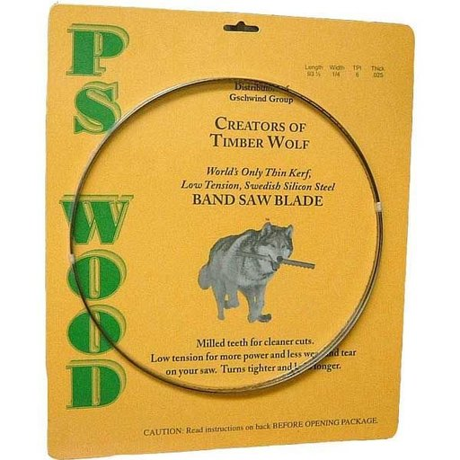 "View a Larger Image of Timber Wolf Bandsaw Blade 93-1/2"" x 3/4"" x 2/3 TPI Variable Positive Claw"
