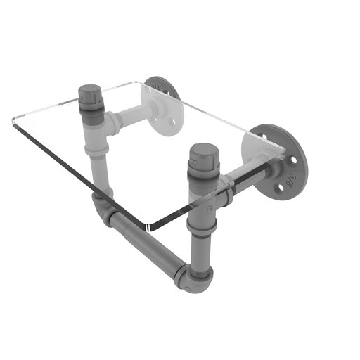 View a Larger Image of  Toilet Tissue Holder with Glass Shelf, Matt Gray Finish