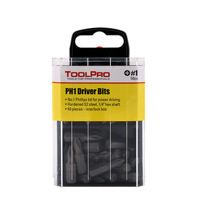 #1 Phillips Bit, 50-Pack Interlocking Box