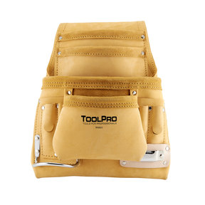 10-Pocket Nail and Tool Pouch, Top Grain Leather