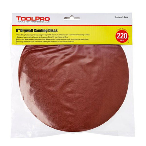 View a Larger Image of 220 Grit Hook and Loop Sanding Discs, 25-Pack