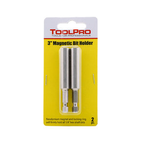 "3"" Magnetic Bit Holder, 2-Pack"