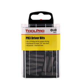 #3 Phillips Bit, 50-Pack Interlocking Box