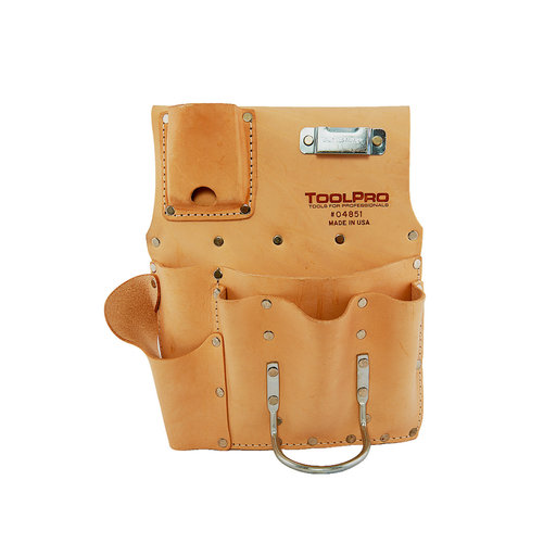 View a Larger Image of 8-Pocket Drywall Pouch, Flat Style, Heavy Duty Leather, Right Handed