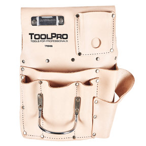 8-Pocket Drywall Pouch, Left Handed, Top Grain Leather