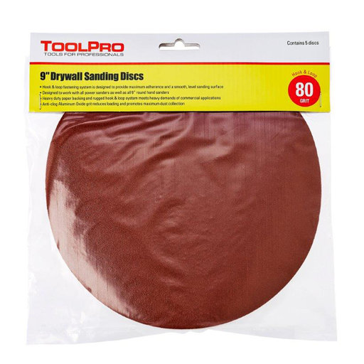 View a Larger Image of 80 Grit Hook and Loop Sanding Discs, 25-Pack