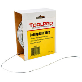 Ceiling Wire, 18 Gauge, 300' Roll, Dispenser Carton