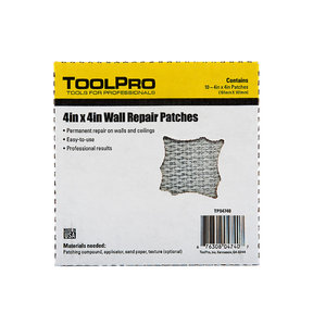"Drywall Patch, 4"" x 4"", 10-Pack"