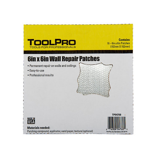 """View a Larger Image of Drywall Patch, 6"""" x 6"""", 10-Pack"""
